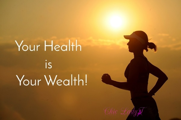 your health is your wealth, lady running in the sunset